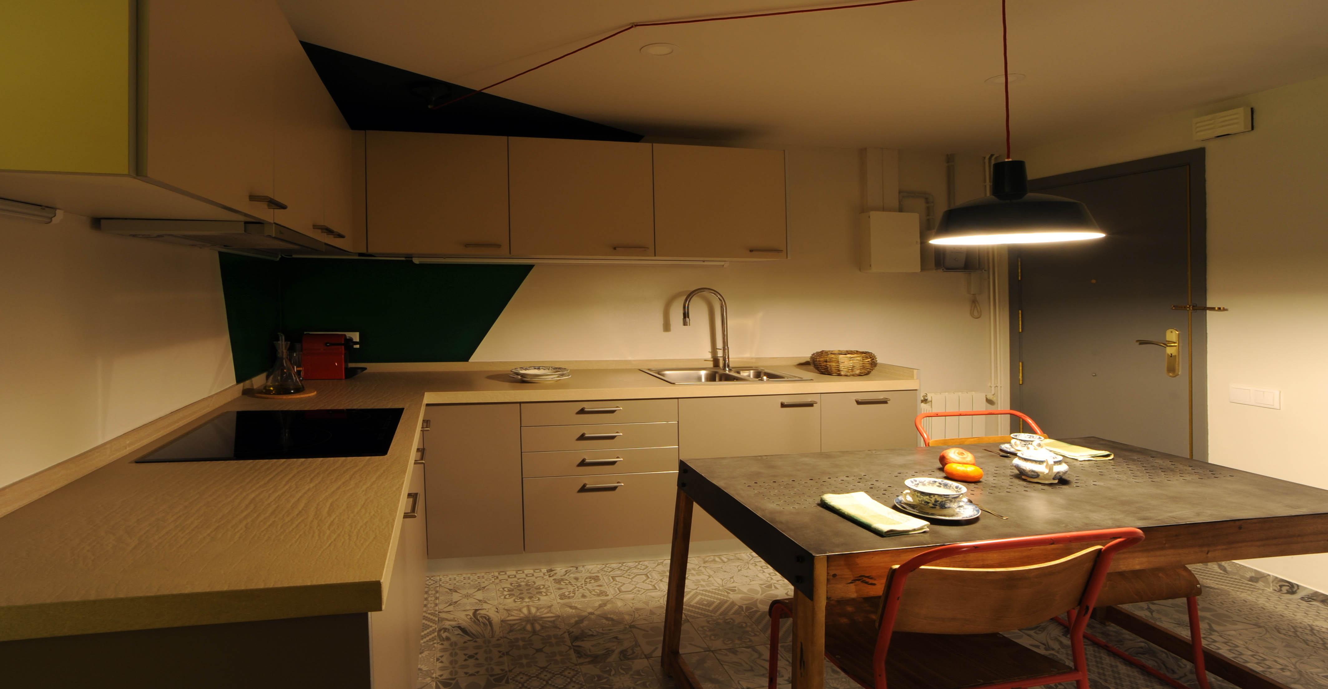 Contemporáneo Cocina Llevado Iluminación De La Pista Patrón - Como ...